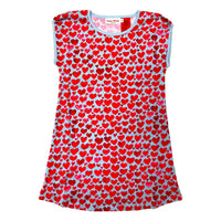 Upcycled Short Sleeve Nightie - Hearts