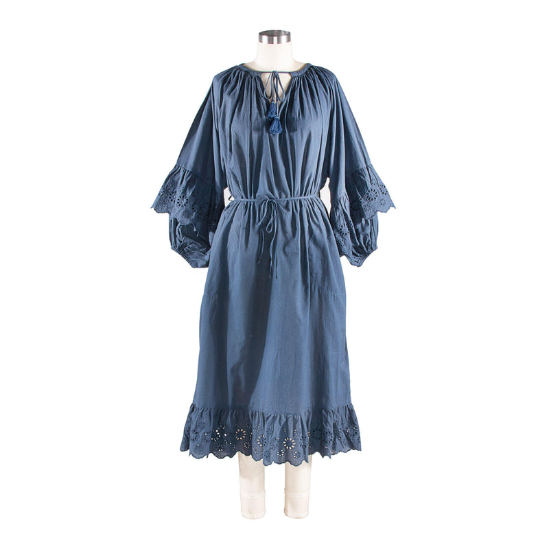 Lace Smock Dress - Charcoal