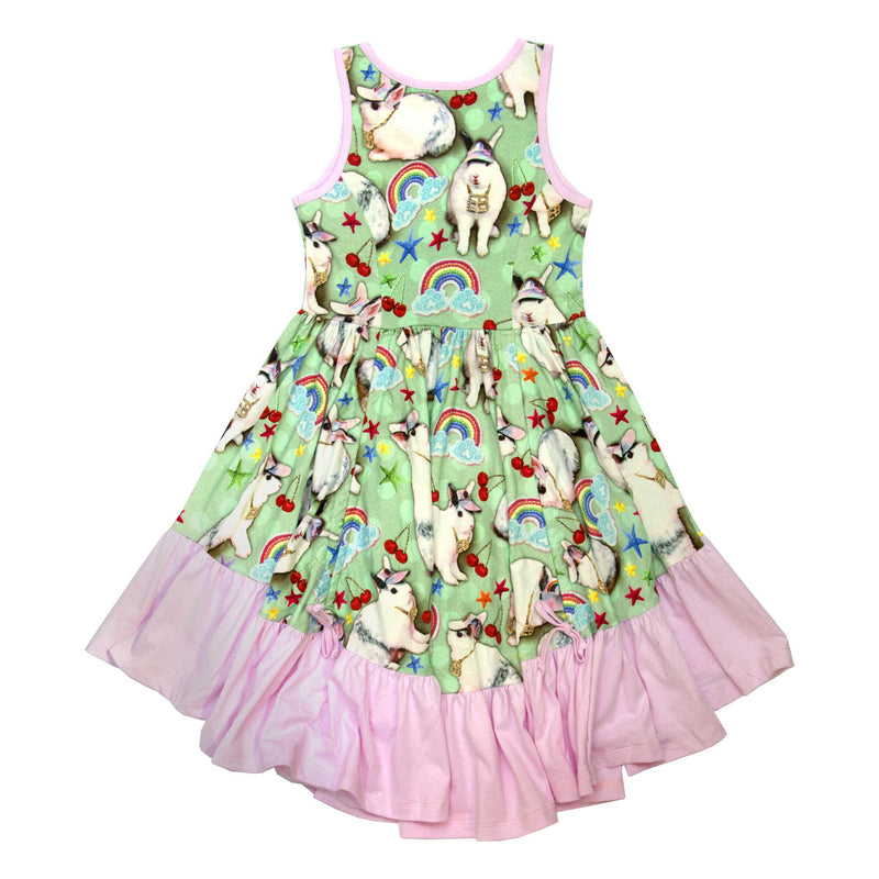 Frilled Singlet Bustle Dress - Easter Bling