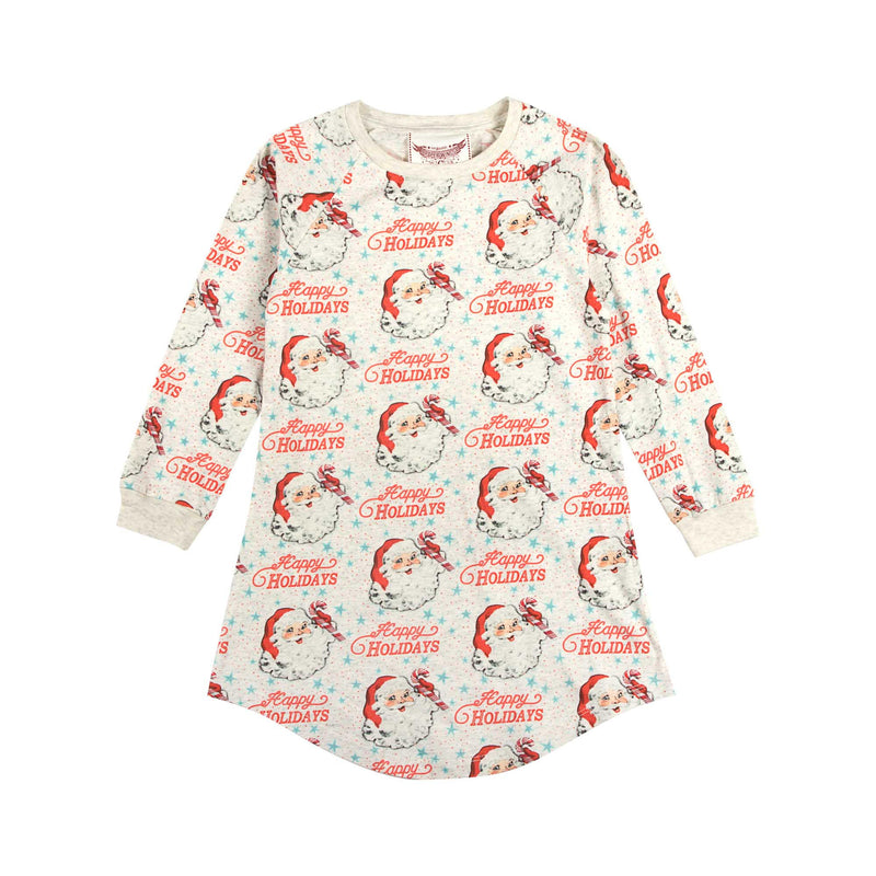 Long Sleeve Nightie - Happy Holidays