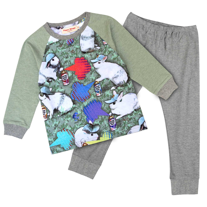 Long Sleeve Raglan Pyjama Set - Instant Easter