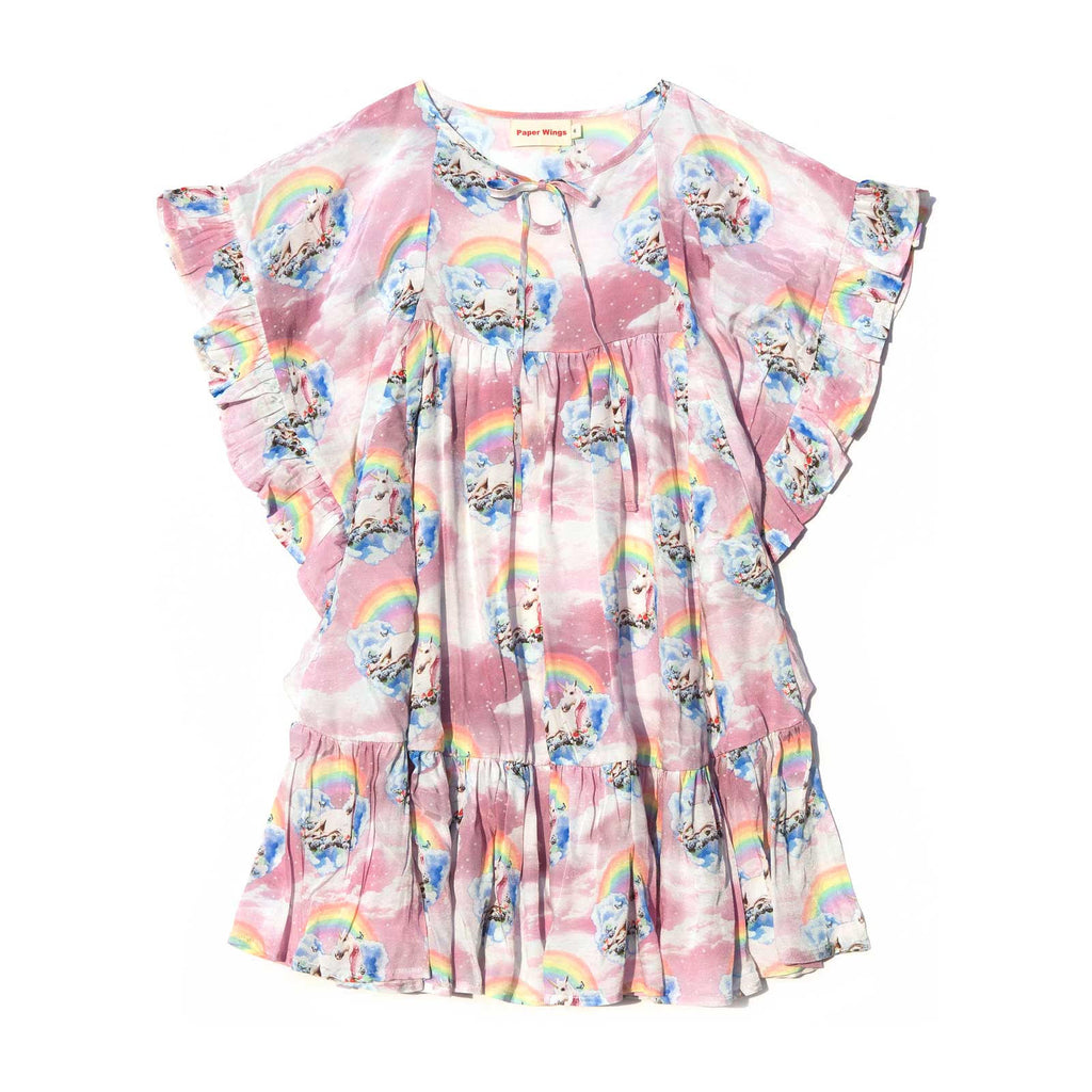 Frilled Smock Dress - Unicorn Clouds