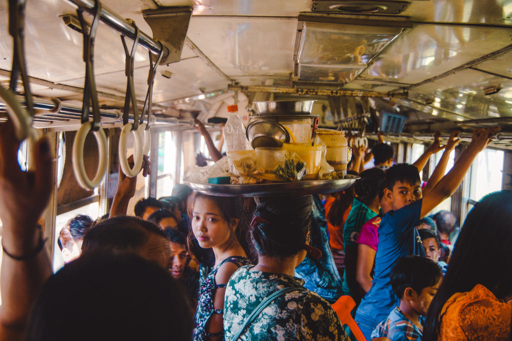 Circle Train Yangon Myanmar