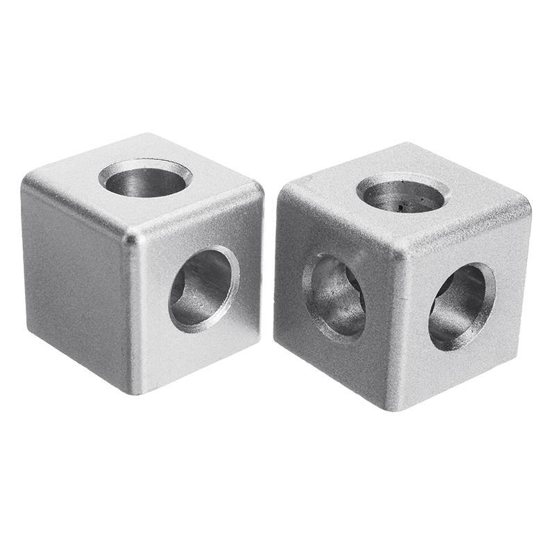 3 Sides Corner cube connector 45 series for extrusion aluminium profile  4545 with bolts and side covers