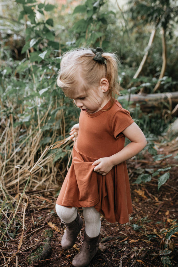 Baby/Kids Peplum Shirt/Dress | Copper
