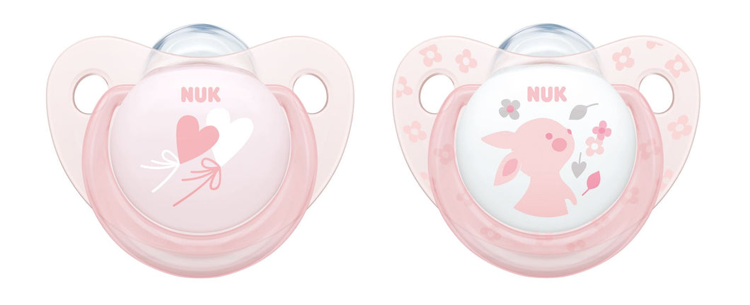 Set de 2 Chupetes Rose & Blue 6-18 meses - Rosa