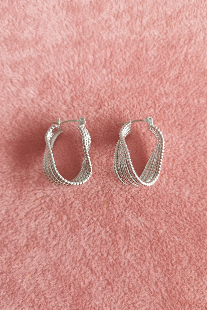 Textured Twisted Hoop Earring