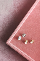 ORGANIC CIRCLE STACK STUD EARRINGS