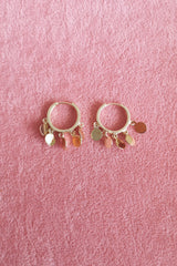 MINI CHARMS HUGGIE EARRINGS