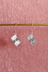 HUNDRED DOLLAR NOTE DROP EARRING