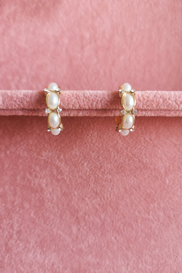PEARLISED HOOP EARRINGS