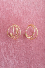 CROSS CIRCLE HOOP EARRINGS