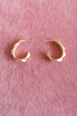 SPIRAL TEXTURED OVAL HOOP EARRINGS