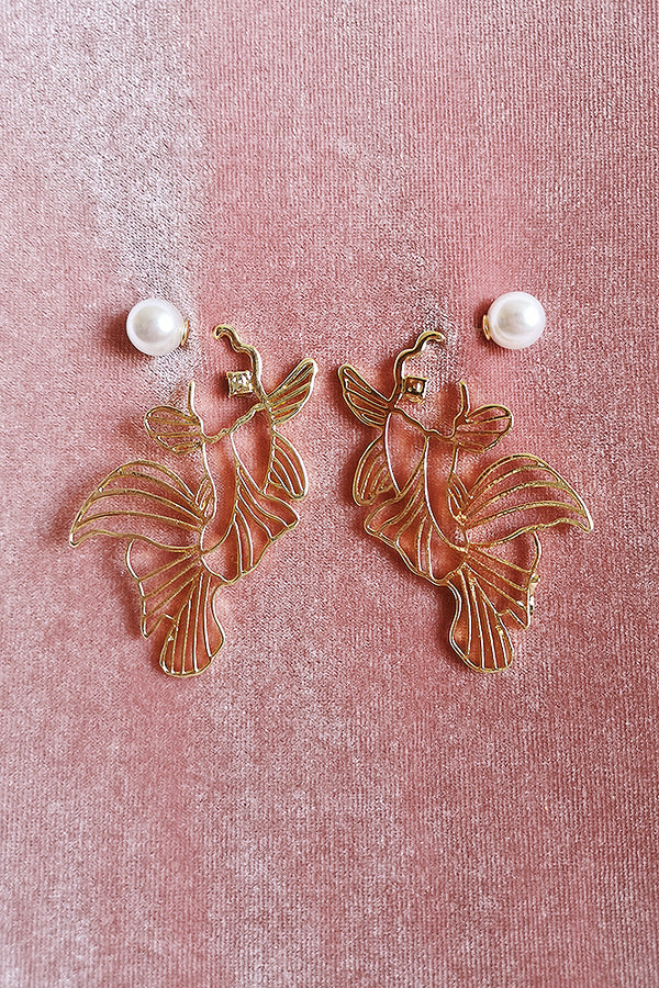 GOLD KOI FISH EARRINGS
