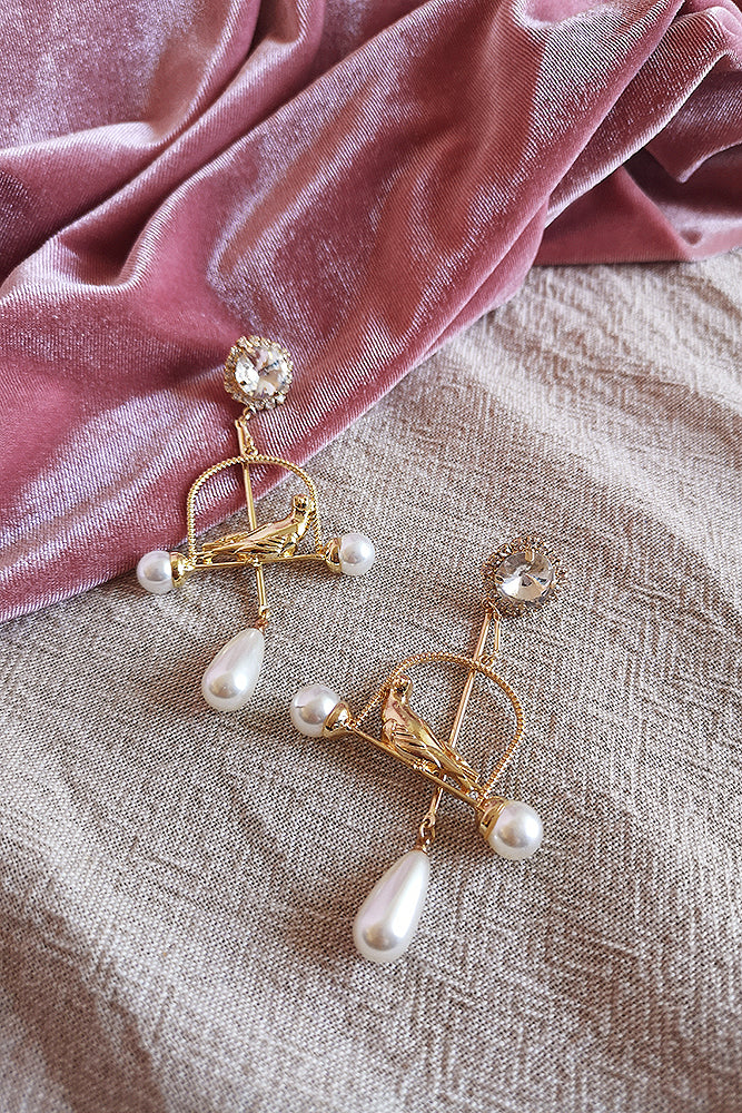 THE BIRD CAGE DROP EARRING