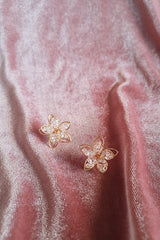BEADED FLORAL STUD EARRINGS