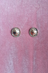GOLD VINTAGE DOME DISC STUD EARRINGS