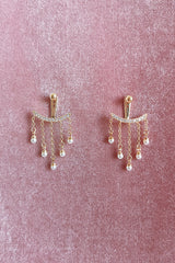 DIAMANTE CHAIN TASSEL EARRINGS