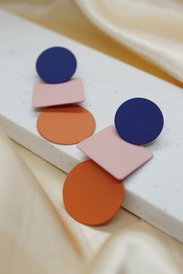 COLOUR BLOCK DROP EARRINGS