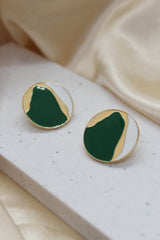 GRAPHIC DISC STUD EARRINGS