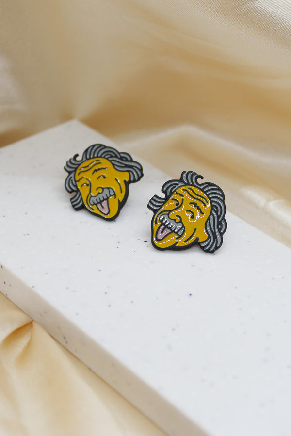 EINSTEIN STUD EARRINGS