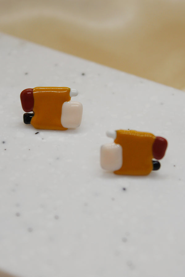 COLOUR BLOCKS STUD EARRINGS