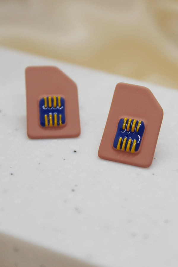 SIM CARD STUD EARRINGS