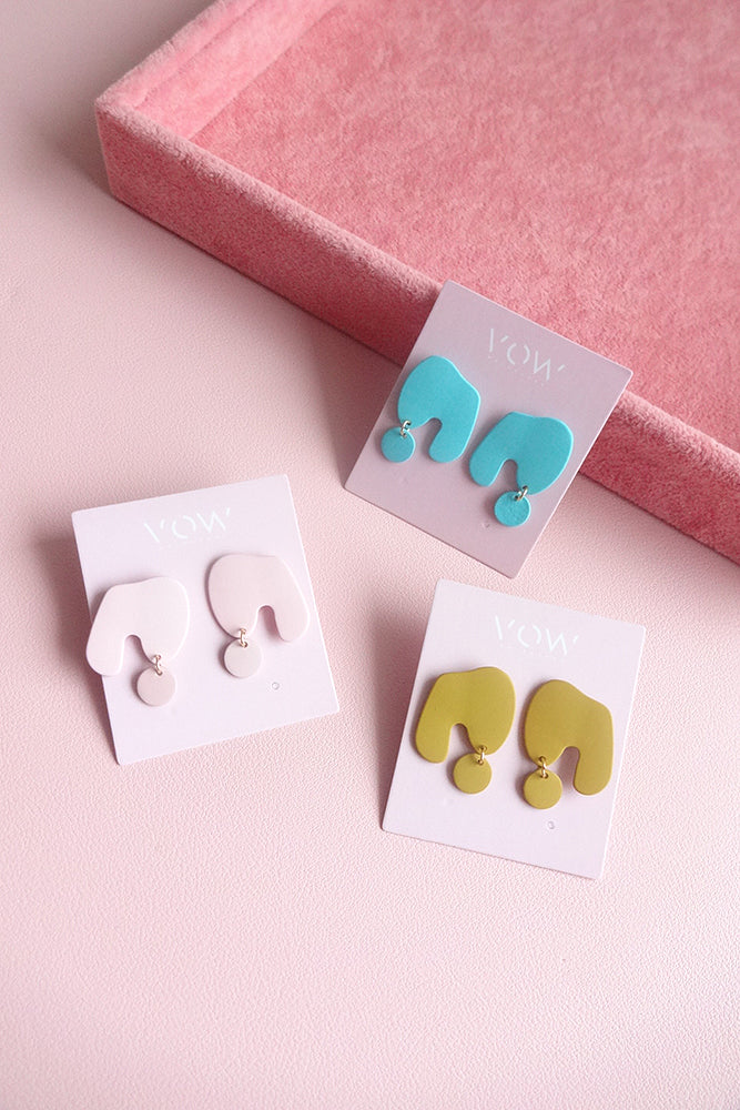 COLOUR ME ORGANIC SHAPE DROP EARRINGS