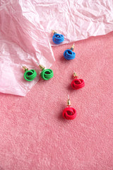 COLOUR KNOT STUD EARRINGS