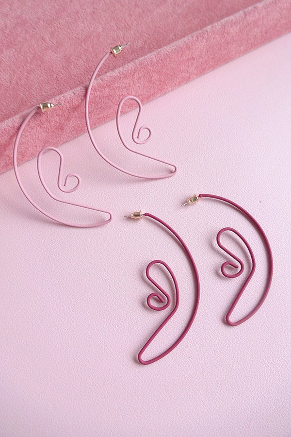 STATEMENT WIRED EAR OUTLINE EARRINGS