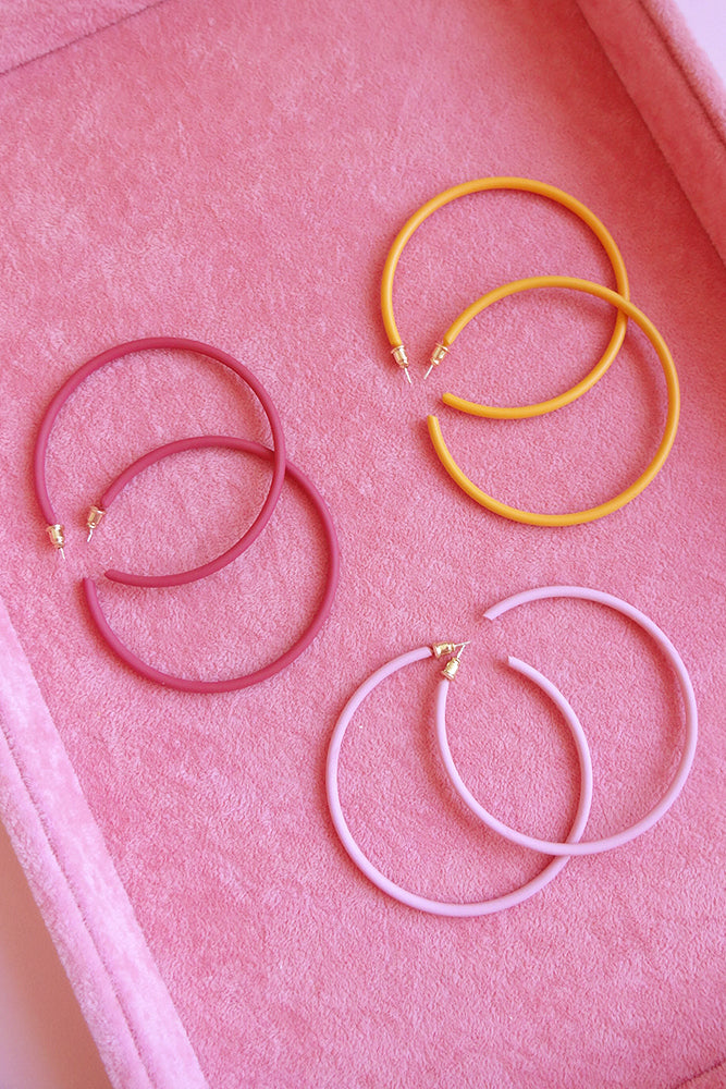 COLOUR ME HOOP EARRINGS