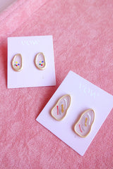 ABSTRACT FRAME STUD EARRINGS