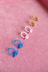POLYMER CLAY KNOT STUD EARRINGS