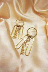 GOLD GOOD LUCK DROP EARRINGS