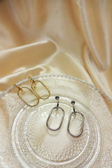 SINGLE CHAIN LINK DROP EARRINGS