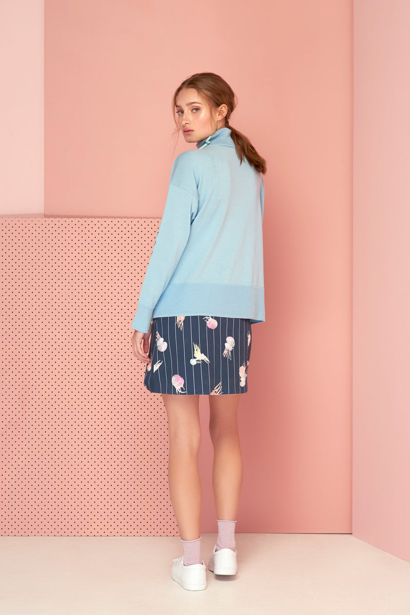 DEEP IN THE SEA JUMPER PALE BLUE