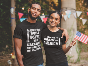 AFRICANS BUILT 2 Flipped (Back & Front) Companion Custom Short-Sleeve Unisex T-Shirt