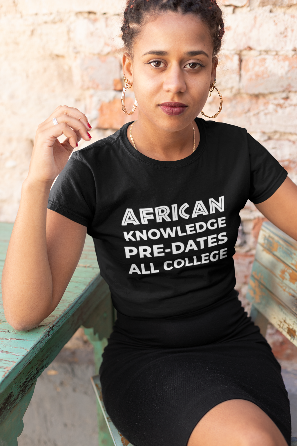 AFRICAN KNOWLEDGE WOMENS CAP T