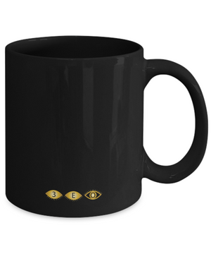 AFRICAN KNOWLEDGE ~ 11oz R/G/Y BLACK MUG