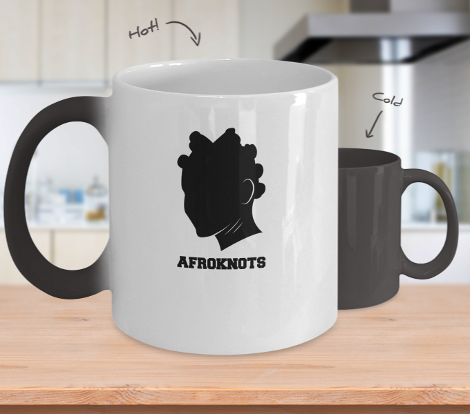 AFROKNOTS - 11oz Sista Temperature Color Changing Mug