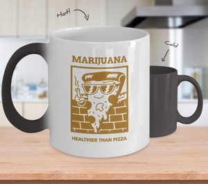 MARIJUANA  ~  Temperarure Color Changing Mug