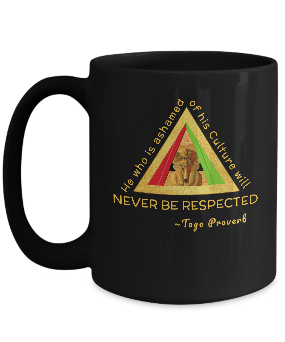 ASHAMED ~ 15oz Black Mug