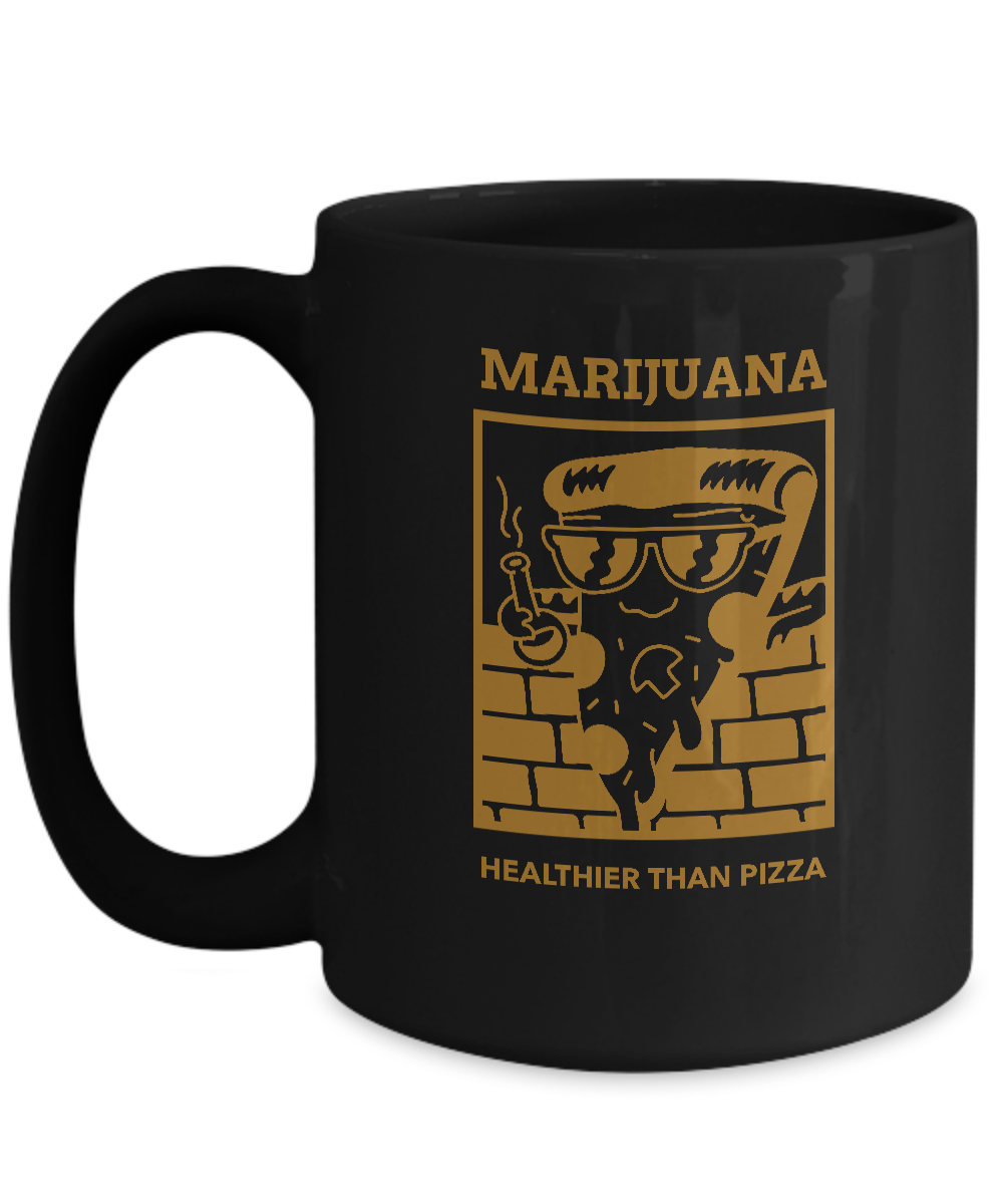 MARIJUANA ~  15oz Black Mug