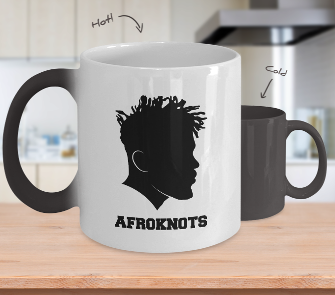 AFROKNOTS - 11oz Bro Temperature Color Changing Mug