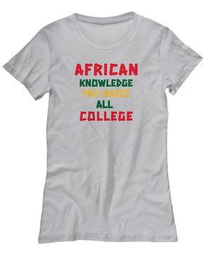 AFRICAN KNOWLEDGE ~ Womens R/G/Y Tee