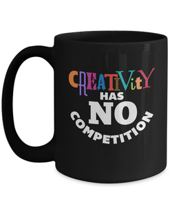 CREATIVITY - 15oz Black Mug