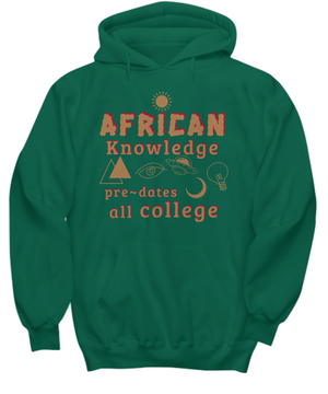 AFRICAN KNOWLEDGE ~ Classic Gold Print Hoodie