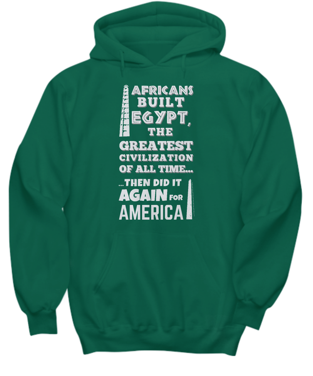 AFRICANS BUILT ~ All Front Hoodie