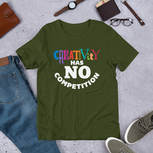 CREATIVITY NO COMP SMILE Short-Sleeve Unisex T-Shirt