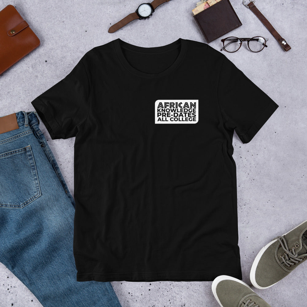 AFRICAN KNOWLEDGE (Banner Breast) Short-Sleeve Unisex T-Shirt